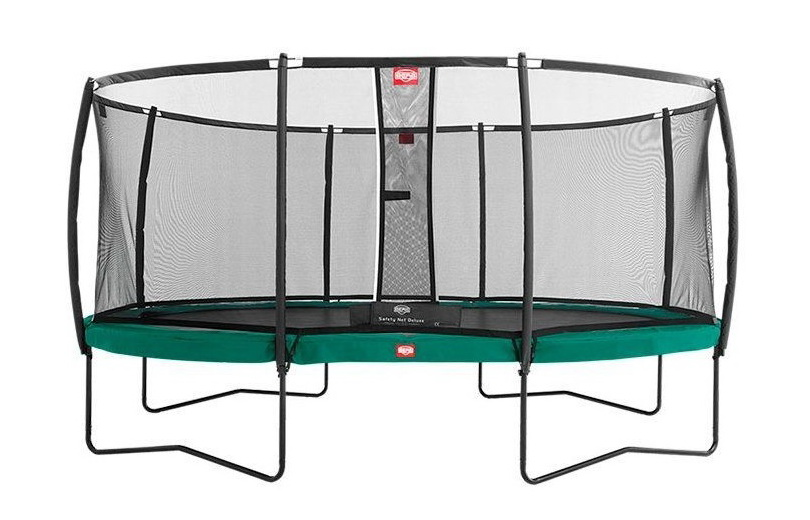 Батут BERG Elite+ 430 Tattoo Red с защитной сетью Safety Net T-series 430