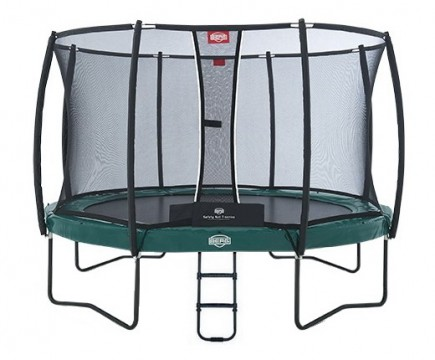 Батут BERG Elite+ 430 Green с защитной сетью Safety Net T-series 430