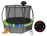 Батут Air Game 3,66 метра с защитной сетью, лестницей и баскетбольным кольцом