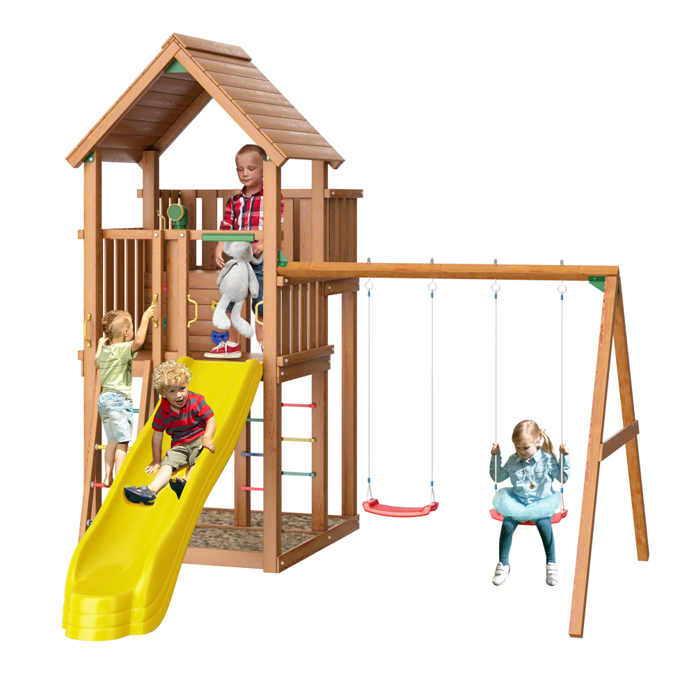 Детский городок Jungle Gym Palace + Swing Module Xtra