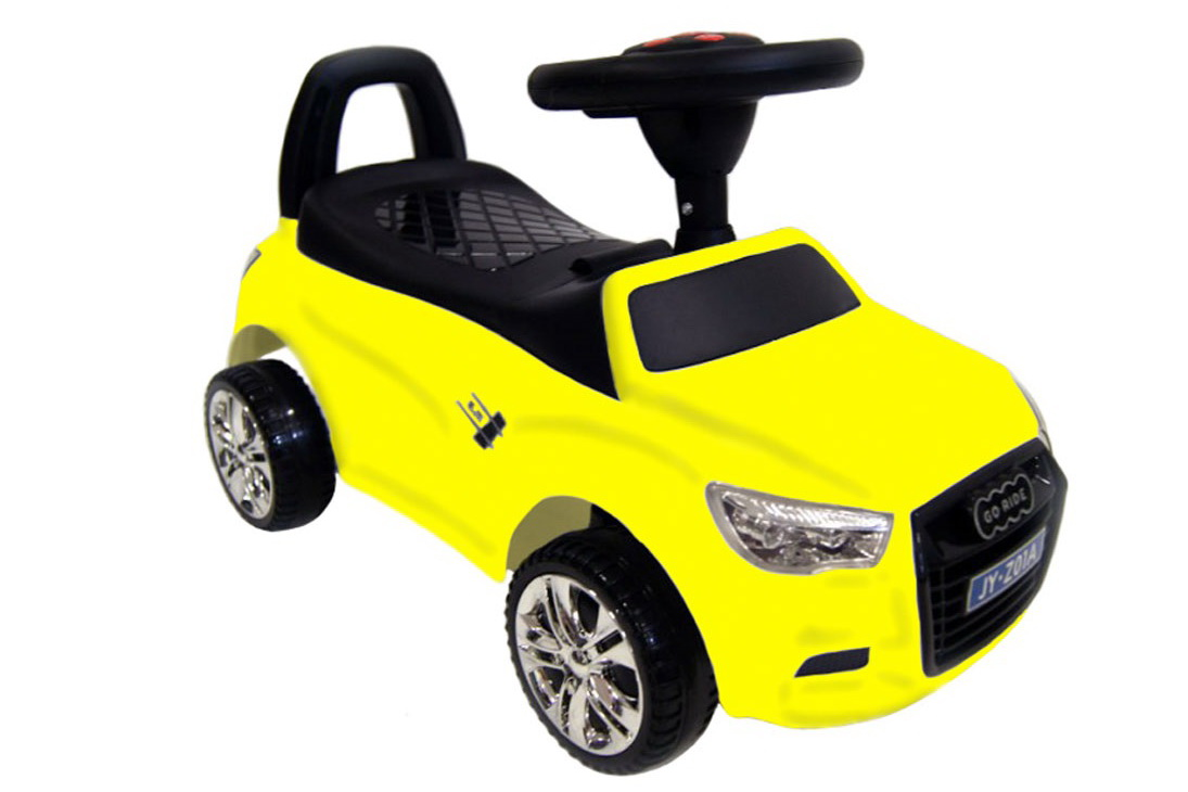 Толокар (каталка) RiverToys Audi JY-Z01A, цвет желтый