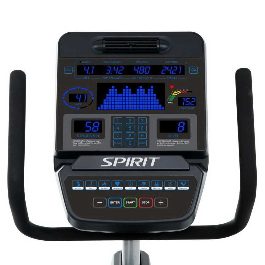Консоль профессионального эллиптического эргометра Spirit Fitness CE900