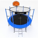 Батут i-JUMP Basket 8ft 2,44 метра с нижней сетью и лестницей