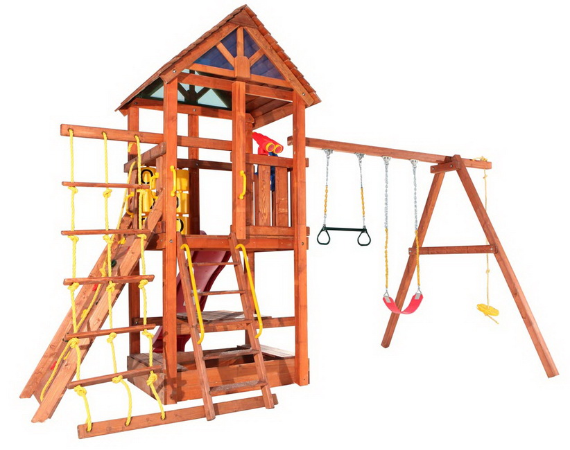 Детская игровая площадка из дерева своими руками фото